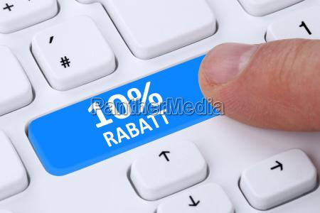 10 ten percent discount button action