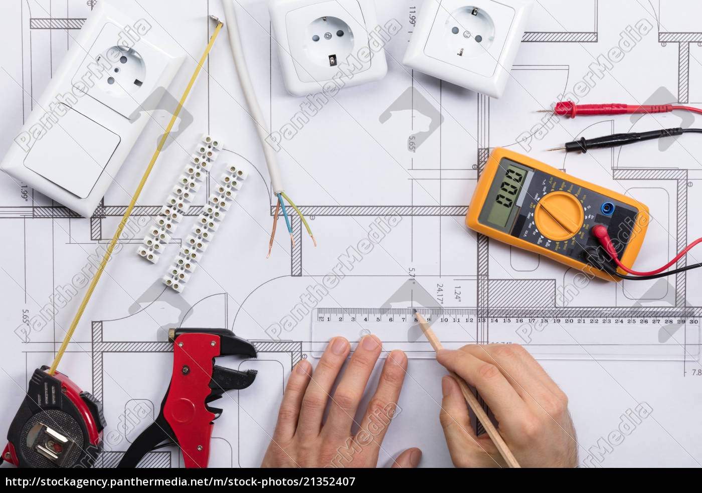 Royalty free image 21352407 - Architect Drawing Plan On Blueprint With on siding blueprints, machining blueprints, design blueprints, welding fabrication blueprints, engine blueprints, water heater blueprints, plumbing blueprints, industrial blueprints, mechanical blueprints, electronic blueprints, house blueprints, countertop blueprints, manufacturing blueprints, hydraulic blueprints, engineering blueprints, home blueprints, foundation blueprints, structural blueprints, automotive blueprints, computer blueprints,