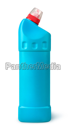 disinfectant in a plastic bottle