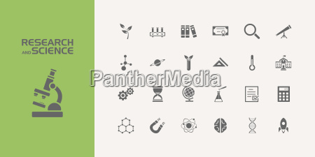twenty five science icons set