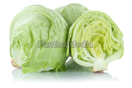 iceberg lettuce salad cut fresh vegetables