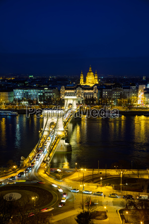 overview of budapest with the szechenyi