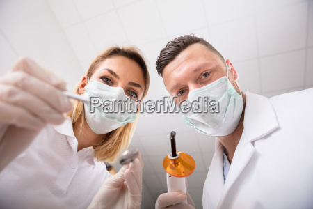 first person view of dentist