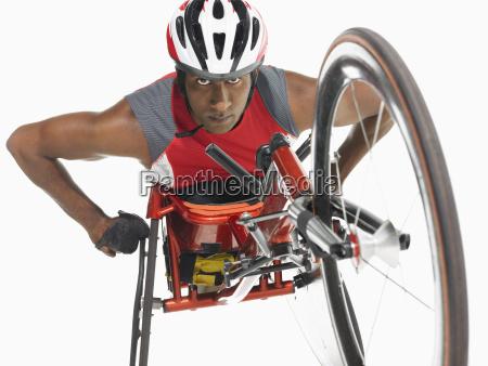 confident paraplegic cycler
