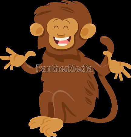 shaggy monkey animal character