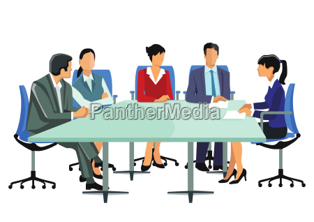 a group of business people at