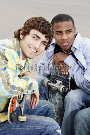 young men with skateboards