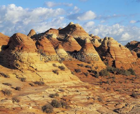 sandstone formations in desert