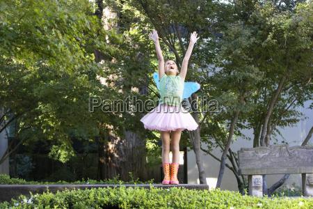 teenage girl with fairy wings