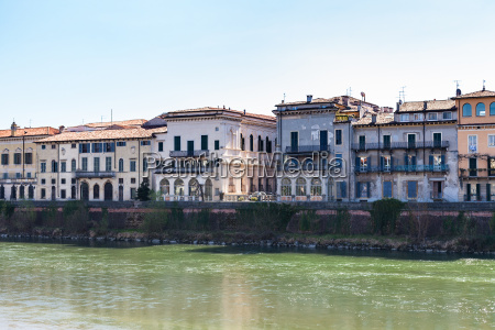 houses on waterfronts in verona city