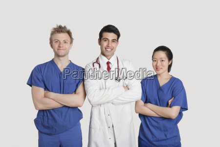 portrait of multi ethnic healthcare professionals