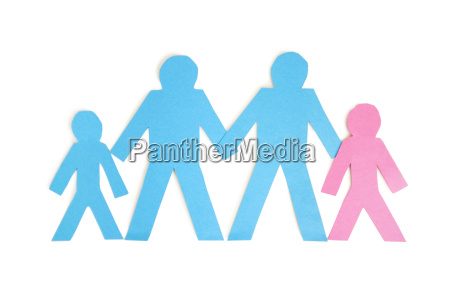 paper cut outs representing a family