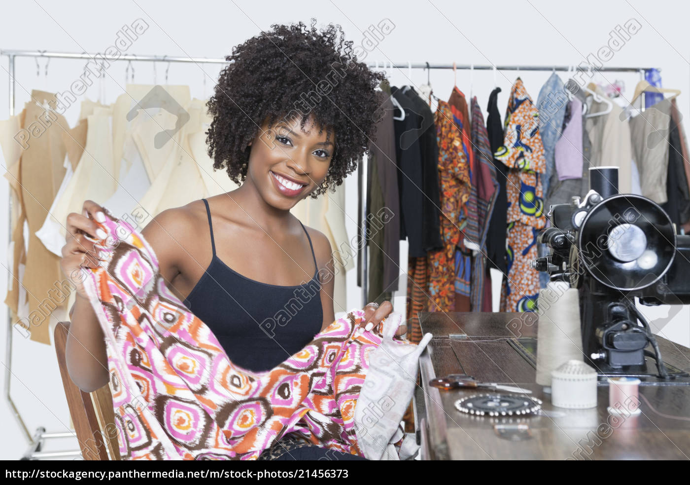 Portrait Of An African American Female Fashion Stock Photo 21456373 Panthermedia Stock Agency