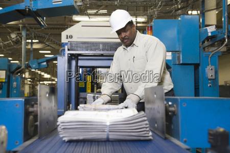 giornale tageblatt avoro americano industria industriale