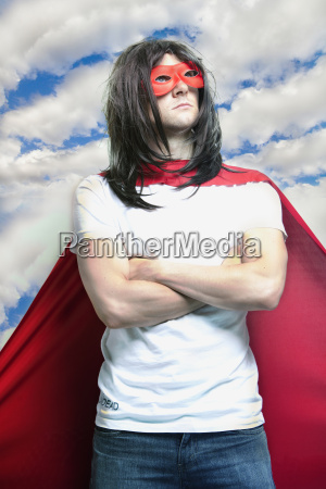 young man in super hero costume