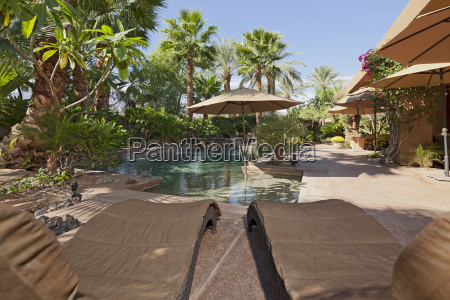 luxury villa with water feature and