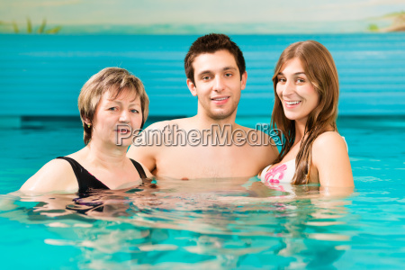 wellness woman and couple in