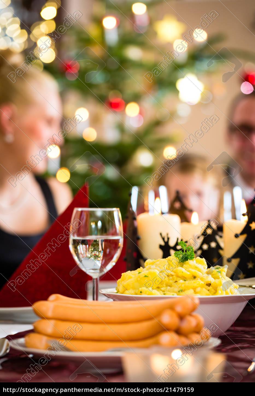 german, christmas, dinner, sausages, and, potato - 21479159 ...