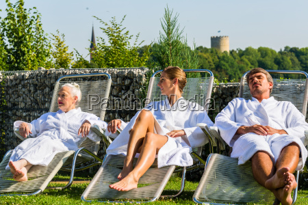 people relaxing on outdoor rest area