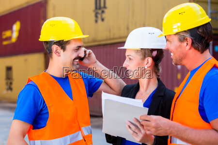 worker and manager of shipment company