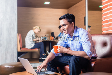 creative business people in coworking office