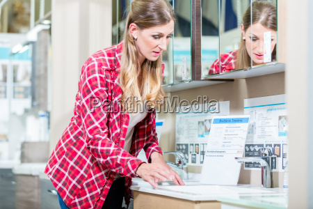 woman in sanitary goods department of