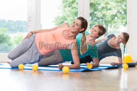 women doing exercises for pelvis floor