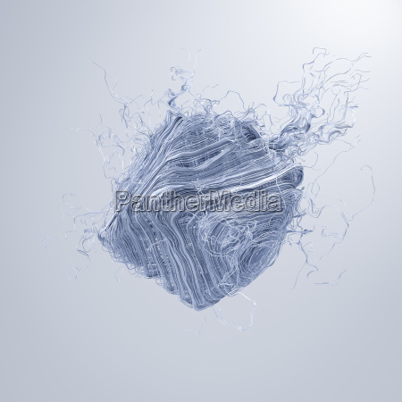 abstract dissolving square 3d rendering