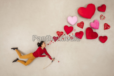 woman with bow and arrow and