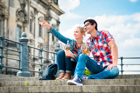 berlin tourists enjoying view from museum