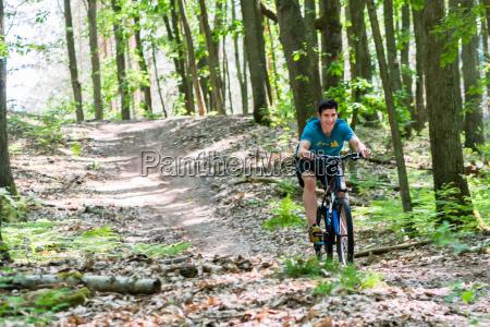 man, on, mountain, bike, bicycle - 21508555