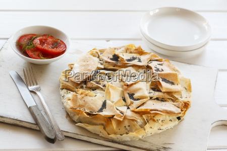 vegetable pie made of filo dough