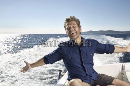 portrait of happy mature man on