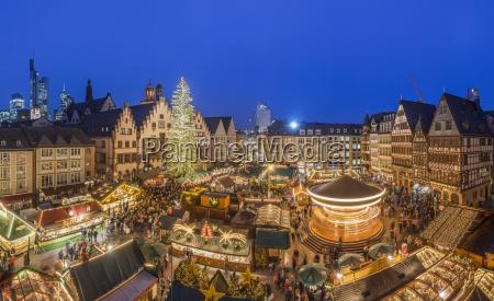 germany frankfurt christmas market at roemerberg