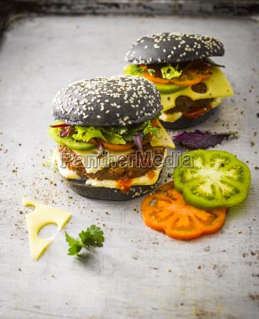 black bun burger