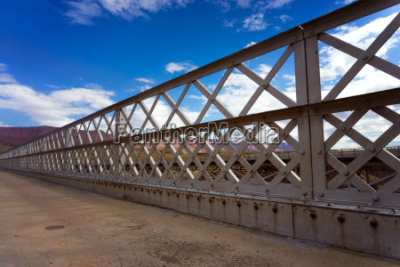 navajo bridge and blue sky