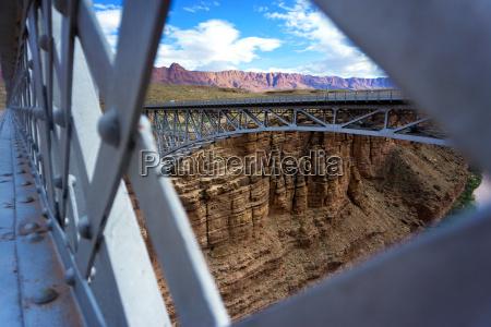 navajo bridge and landscape