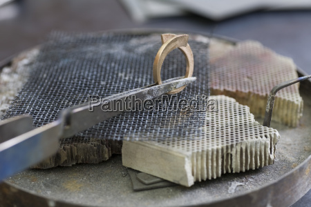 jewellery making hand crafting a metal
