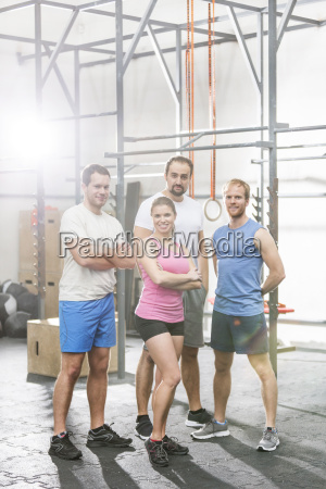 portrait of confident people standing at