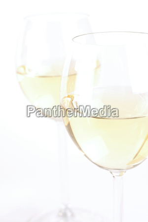 glass of white wine studio