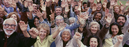 large group of multi ethnic people