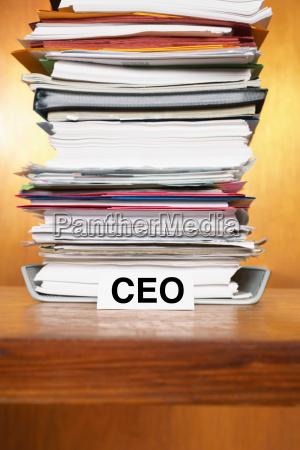 overflowing inbox of ceo