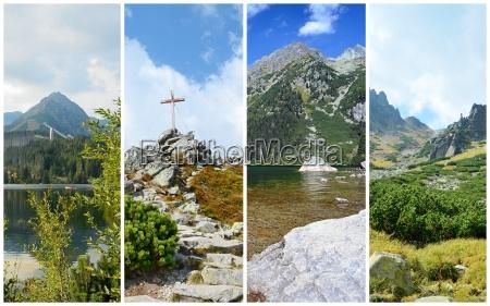 high tatra mountains collage