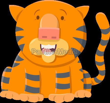 tiger cartoon animal character