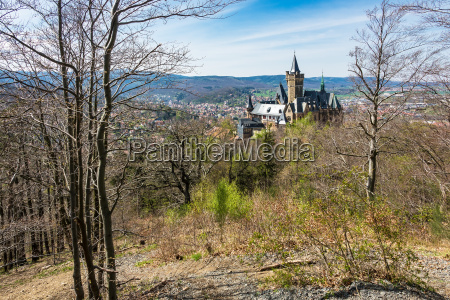 view of the castle wernigerode in
