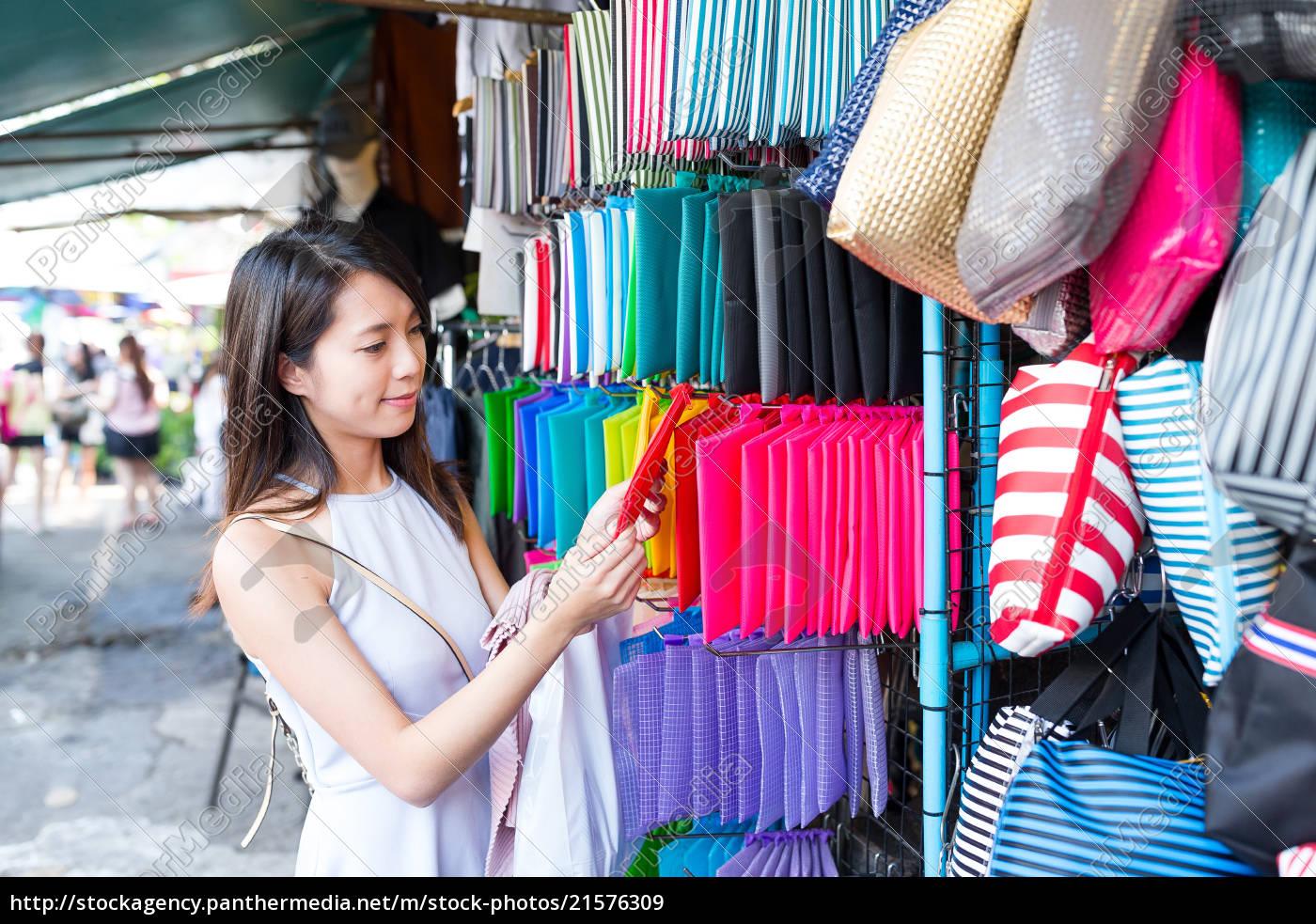 woman, shopping, in, market, in, bangkok - 21576309