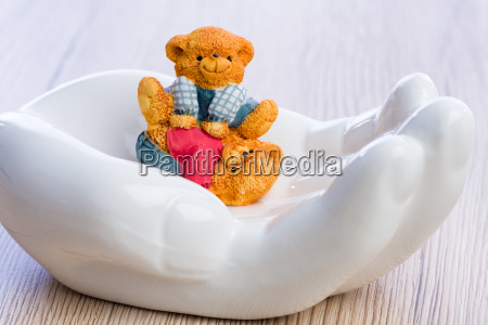 two little bear children carelessly playing