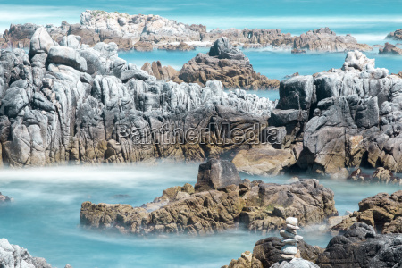 rocky shore at asilomar state beach