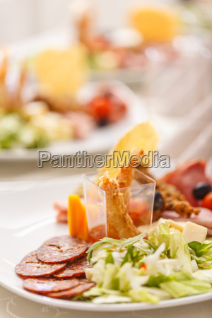 delicious appetizer plate