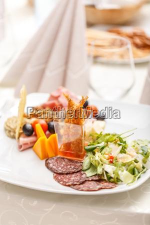 tasty appetizer plate